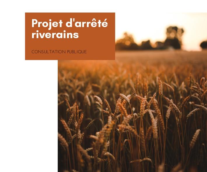 projet d'arrêté riverains - consultation publique